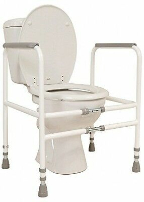 NRS Healthcare M00870 Free Standing Toilet Frame - Width and Height Adjustable