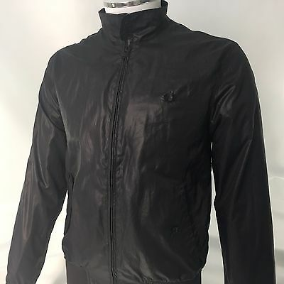 Fred Perry mens small S 38 Harrington jacket Black vintage casuals RARE!
