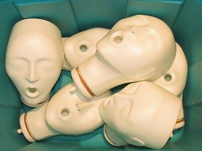 Lot of 6 -SIX  - ACTAR  911 - ADULT REPLACEMENT  HEADS - CPR  Parts- Great Shape
