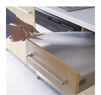 Plastic Liner For Drawer Clear Kitchen Cupboard Non Slip Draw Protector Sheet