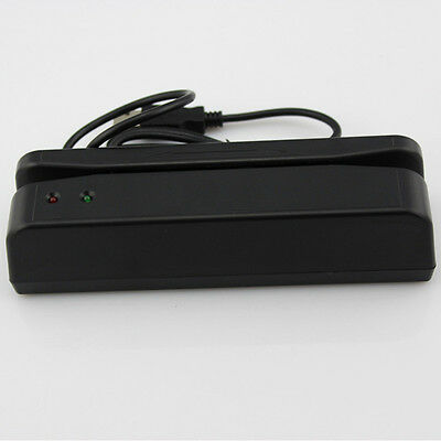 Portable Bi-directional Credit Card Reader Machine USB Magnetic Magstripe Swiper