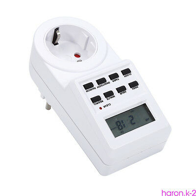 7-Day Programmable Digital Timer Socket Wall Outlet Light Switch ON/OFF/AUTO DS