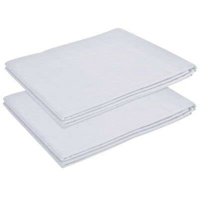 vidaXL 2 pcs Flat Bed Sheet for Single Bed Bedding Cotton 146x260 cm White