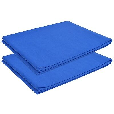 vidaXL 2 pcs Flat Bed Sheet for Double Bed Bedding Cotton 240x260 cm Royal Blue