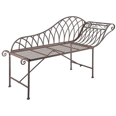 Esschert Design Chaise Longue Garden Outdoor Metal Old English Style MF016