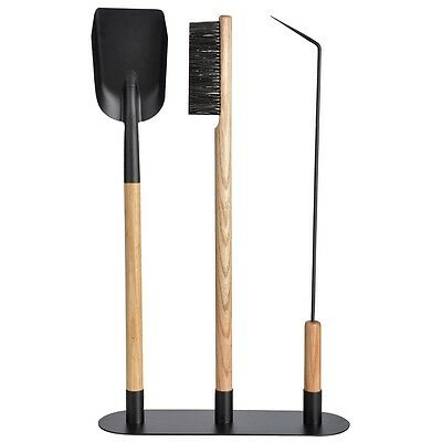 Esschert Design Three Piece Fireplace Tool Set Free Standing Carbon Steel FF208