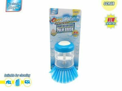 24 x Opti Clean Palm Brush with Soap Pump Home Accessory  Wholesale Lot