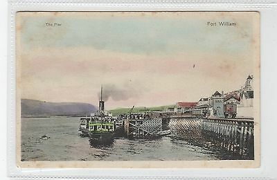 THE PIER, FORT WILLIAM: Inverness-shire postcard (C28343)