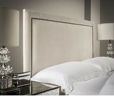 "LUXURY 44"" INCH TALL TIFFANY STUDS DESIGN CHENILLE WALL Headboard all colours"