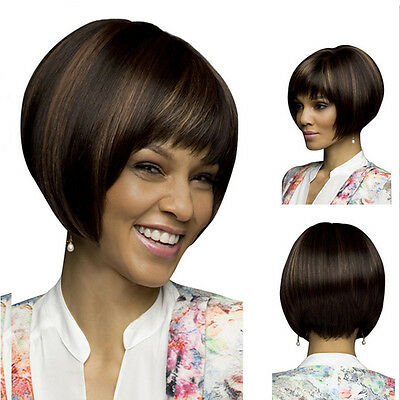 Natural Short Straight Bob Human Hair Full Lace Wigs Lace Front Wig for Women