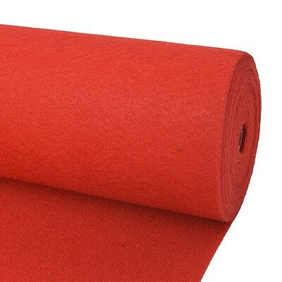 vidaXL Exhibition Carpet Rug Plain 2x12 m Red Commercial Wedding Party Events