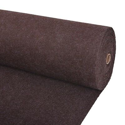 vidaXL Exhibition Carpet Rug Rib 2x20 m Brown Commercial Wedding Party Events
