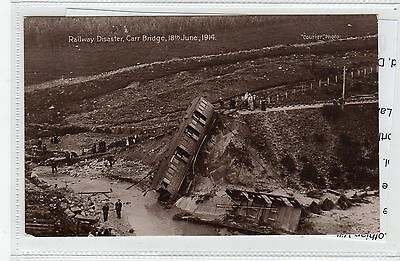 RAILWAY DISASTER, CARR BRIDGE, 1914: Inverness-shire postcard (C28316)