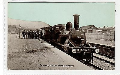 RAILWAY STATION, FORT AUGUSTUS: Inverness-shire postcard (C28318)