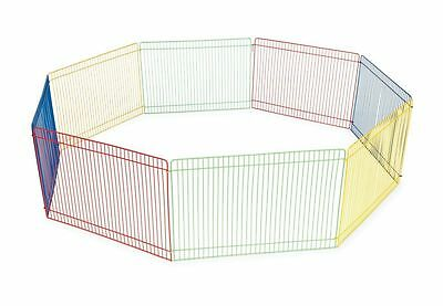Small Animal Guinea Pig Pet Exercise Play Pen Portable Fence Cage Indoor Outdoor