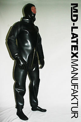 MD-Latex - HEAVY RUBBER II - 1.5 mm Rubber Latex Overall Latexanzug Ganzanzug