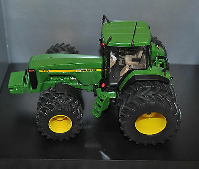 1:32 Schuco John Deere 8400 Tractor Dual Wheels Conversion, Britains Scale
