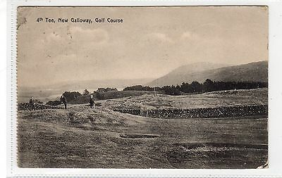 4th TEE, NEW GALLOWAY GOLF COURSE: Kirkcudbrightshire postcard (C28449)