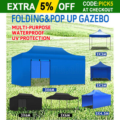 3x3m 3x4.5m 3x6m Outdoor Gazebo Folding Marquee Tent Canopy Party Market