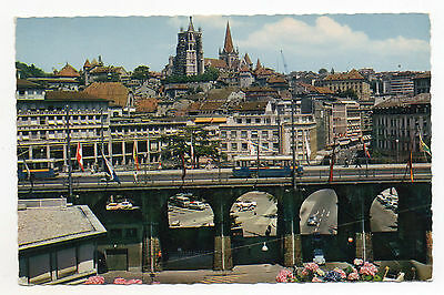 Lausanne.le Grand Pont.switzerland.postcard
