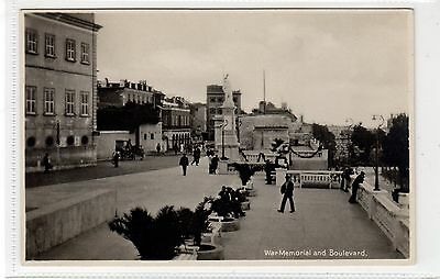 WAR MEMORIAL AND BOULEVARD: Gibraltar postcard (C28288)