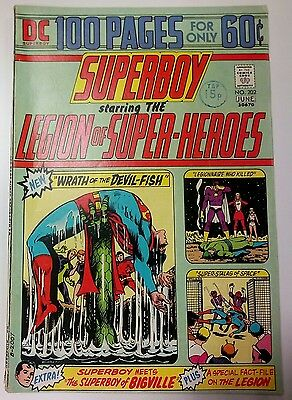 Superboy starring the Legion of Super-Heroes NO. 202 June 1974 FN