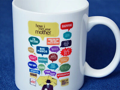 TV serious How I Met Your Mother Mug Cup Funny Scripts Print Coffee Cermaic Cup