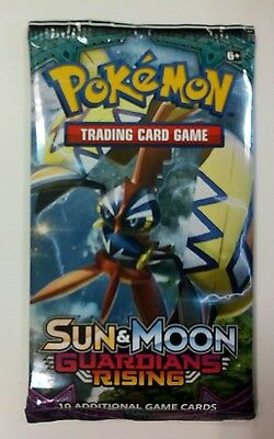 Pokemon Sun and Moon Guardians Rising Booster Pack x3