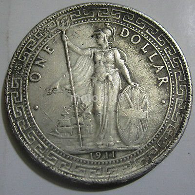 Ancient Coin 1911 British Trade One Dollar Silver Coin Commemorative Coin 1PCS