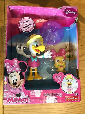 Fisher Price Minnie Mouse Drizzly Day Daisy Bath Toy Water Squirter NEW Disney