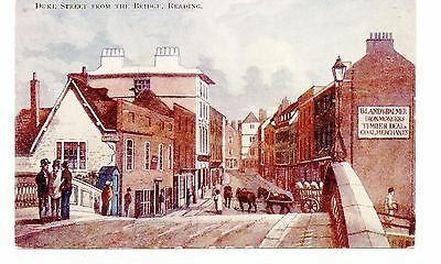 """BERKSHIRE ""   READING     DUKE  STREET  from the  bridge           1920/30s"