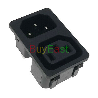 IEC C13(Female) C14(Male) Panel Mount Power Socket Connector AC100~250V 10A