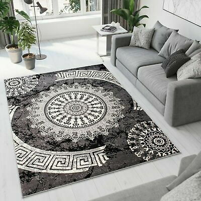 New Grey Rug Modern Design Small Extra Large Geometric Pattern Circles Area Rugs
