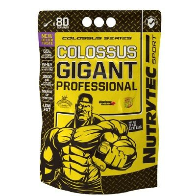 COLOSSUS GIGANT NUTRYTEC CHOCOLATE 7 Kg PROTEINAS CARBOHIDRATOS CREATINA BCAAs
