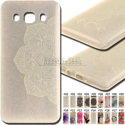 For Samsung Galaxy J5(2016) Rubber Soft Clear TPU Skin Silicone Back Cover Case