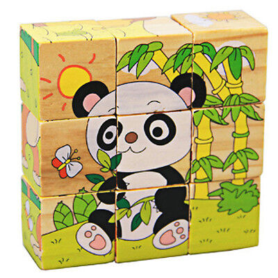 Kid Baby Wooden Learning Educational Toys 3D Puzzle Jigsaw Puzzle Early Learning