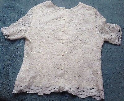 Debenhams Size14/16 Embroidered , Lace Vintage Blouse