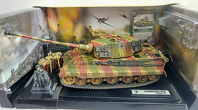 Forces Of Valor Unimax #80601 1:32 Diecast German King Tiger Tank, With Diorama