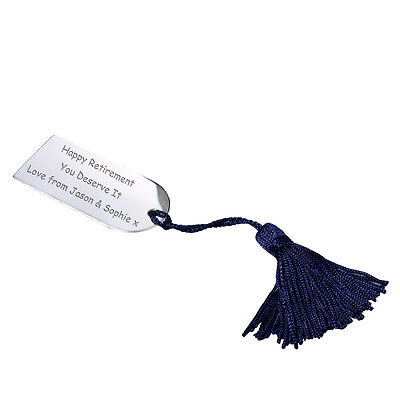 Personalised Silver Plated Arch Bookmark With Tassle - Add Any Message