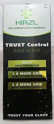 Men's HIRZL Trust Control Golf Glove Large Regular Right Hand Kangaroo Leather