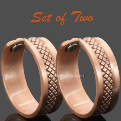 Copper Magnetic Ring BUY 1 GET 1 FREE Powerful Relief 4 Arthritis in Fingers -SC