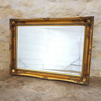 "C18th Style Gilt Rectangular Wall Mirror 3' x 2'2"" - (Antique Reproduction)"