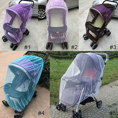 Universal Baby Stroller Pushchair Mosquito Net Mesh Cover for Pram Car Seat SS