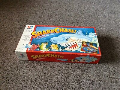 Shark Chase Board Game By MB Games 1989 Vintage Retro