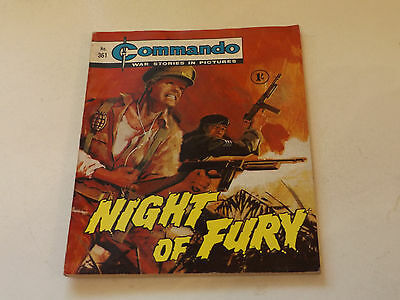 Commando War Comic Number 361,1968 Issue,v Good For Age,49 Years Old,very Rare.