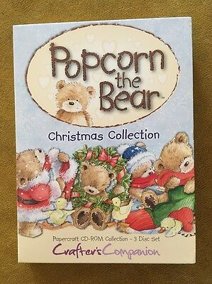 Crafters Companion Popcorn The Bear Christmas Collection Triple CD-ROMs