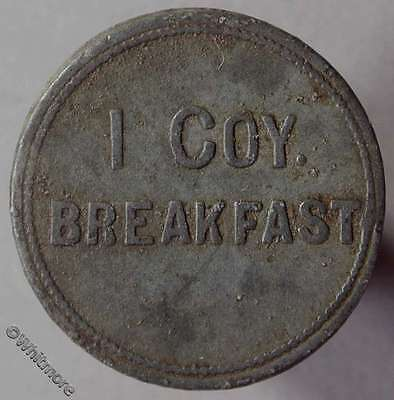 Token Armed Forces 25mm I Coy Breakfast Not in Yarwood but see p45