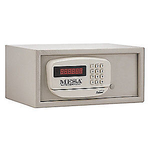 MESA SAFE COMPANY Steel Hotel and Residential Safe,0.4 cu ft, MH101, Putty