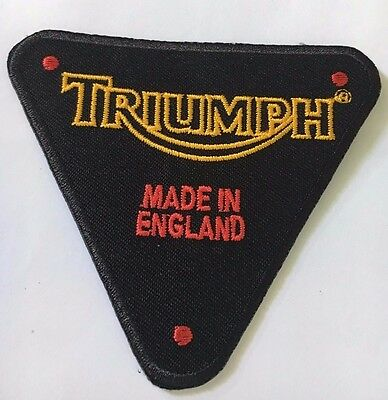 Embroidered  cloth patch ~ Triumph timing case logo.    B011105