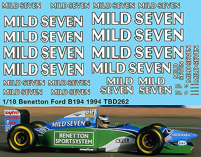 1//18 B192 Benetton Ford F1 1992 Decal Missing Sponsor Decals TBD305